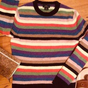 Brooks Brothers Colorful Wool Striped Sweater